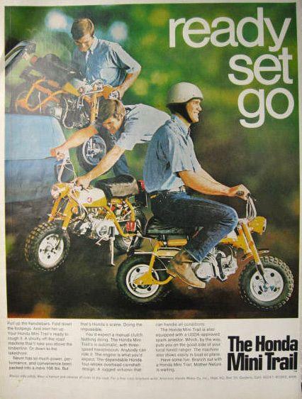 Vintage Honda Mini Trail Ad - 1969