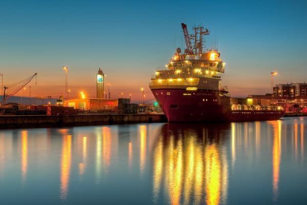esbjerg-harbour-denmark.                            Sailed in to Esbjerg on high school Danish exchange