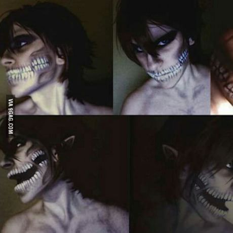 Attack on Titan cosplay makeup. Amazing.