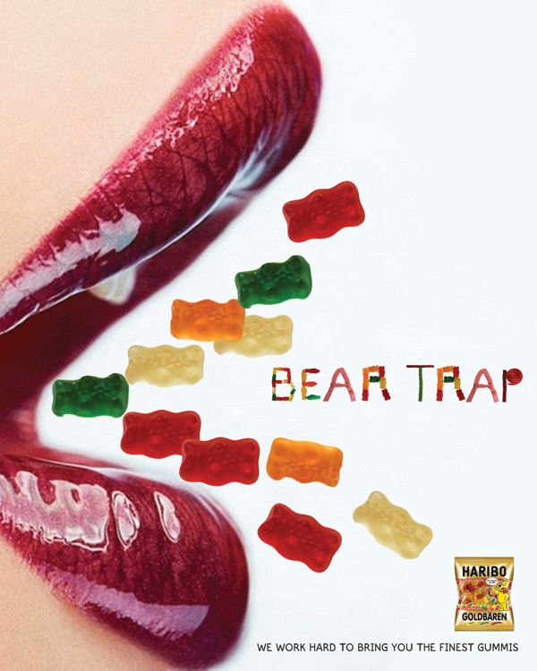 Haribo Jelly Candy Bear Trap Advertising Campaign PD