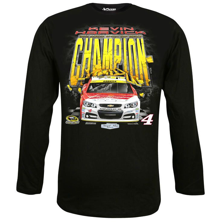 Kevin Harvick Chase Authentics 2014 NASCAR Sprint Cup Series Champion Long Sleeve T-Shirt - Black - $21.84