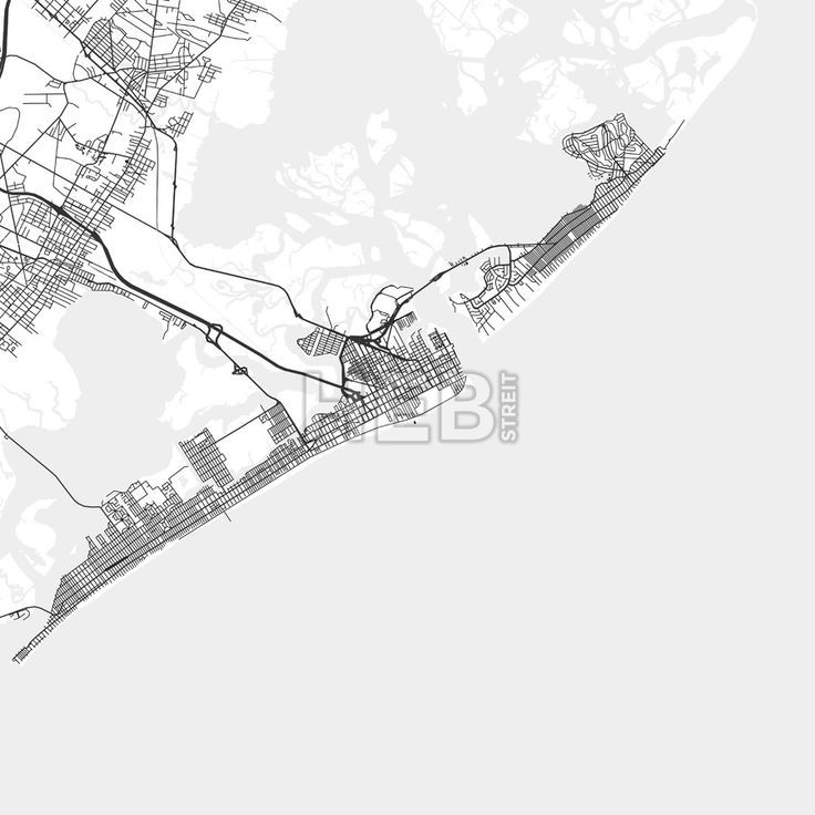 Atlantic City downtown and surroundings Map in light shaded version with many details for high zoom levels. This map of Atlantic City contains typical... ... #map #download #citymap #areamap #usa #background #clean #city #area #modern #landmarks #ui #ux #hebstreit