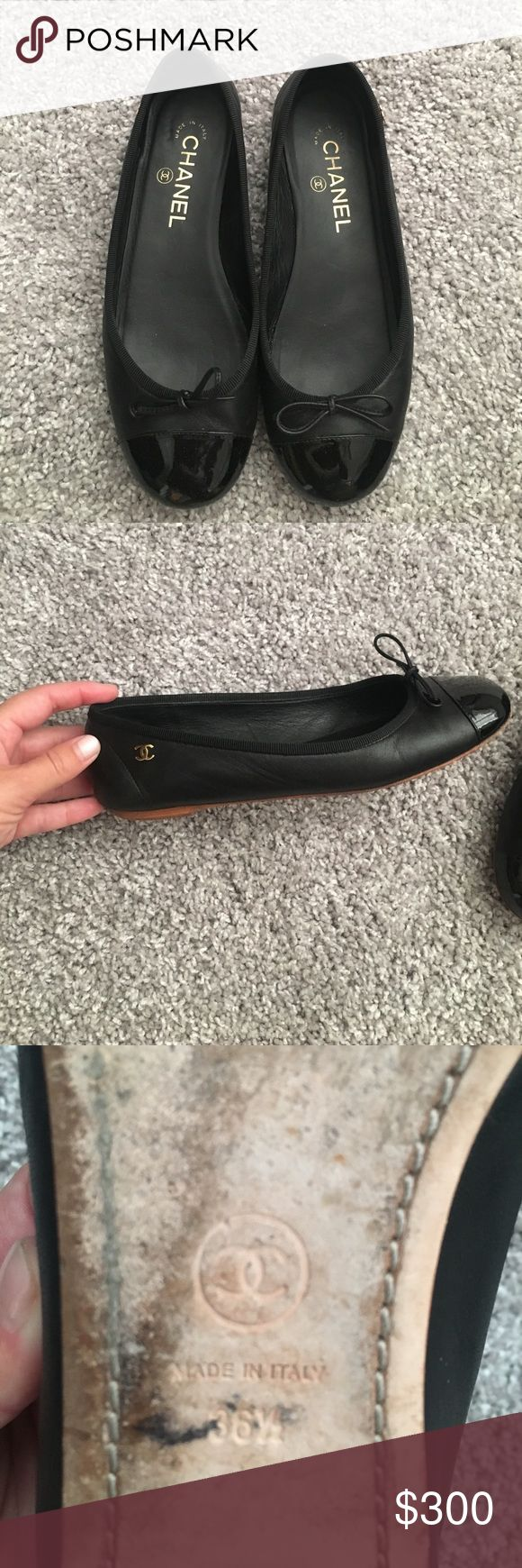 Chanel ballet flats Very comfortable black flats. Goes with everything! CHANEL Shoes Flats & Loafers