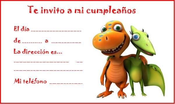 Invitaciones para cumpleaños de dinosaurios | Manualidades para ...