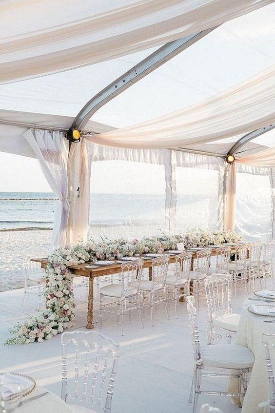 Beach wedding reception decor idea    wedding     beach wedding     beach wedding ideas   #wedding #beachwedding https://www.starlettadesigns.com/