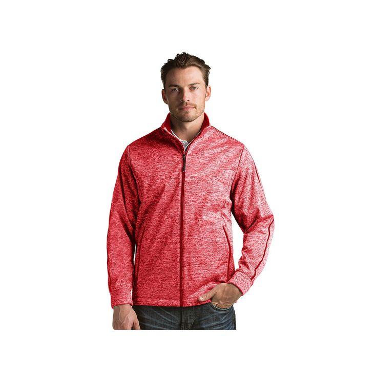 Men's Antigua Modern-Fit Golf Jacket, Size: Medium, Dark Red
