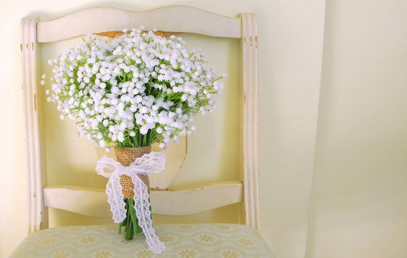 Baby's Breath Bouquet (Gorgeous Artificial Baby's Breath Gypsophelium Bouquet) on Etsy, 62,70€