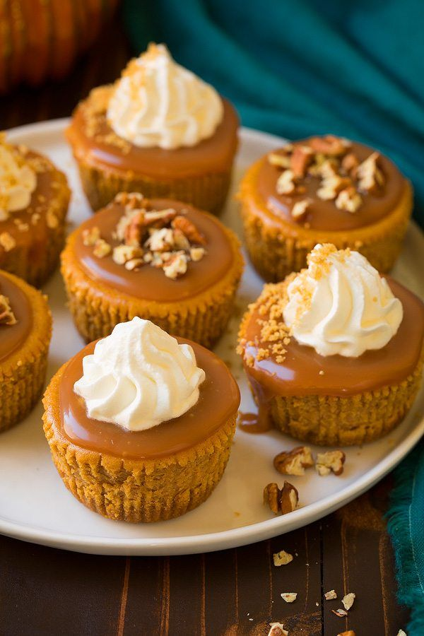 Pumpkin cheescake cupcakes with salted carmel sauce.  These were a hit, I forgot to make the carmel cause and just served with whip cream on top and they were delicious.