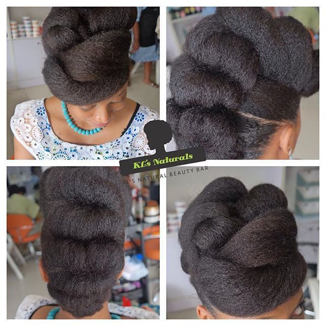 http://www.shorthaircutsforblackwomen.com/how-to-make-your-hair-grow-faster-longer/   natural hair updo This could definitely work for a natural hair bride, cute protective styles #teamnatural