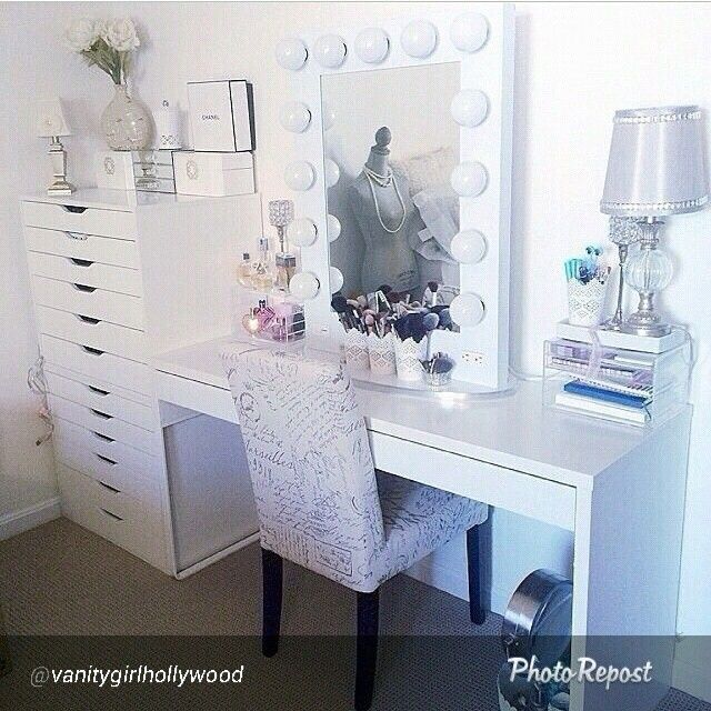 This Gorgeous Room Belongs To @ashtagmakeuplovee On Instagram   White  Broadway Vanity By Www.