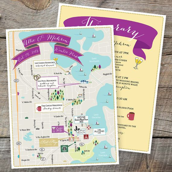 17 Best Images About Custom Wedding Maps Feathered Heart