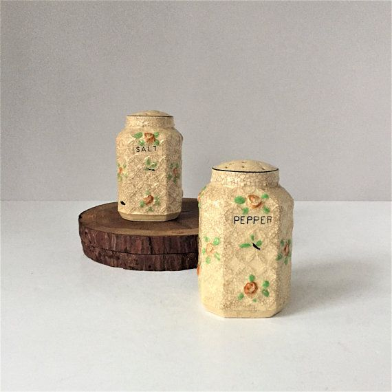 Tiney cute vintage painted lady pepper shaker with cork