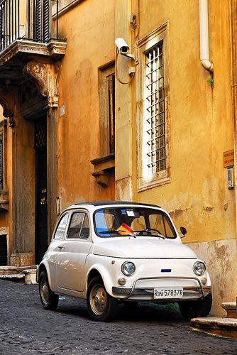 Old Fiat 500 comprado en Roma año 1971. por 3 meses nos llevó a recorrer Europa. 2 mujeres, 1 tortuga griega y 1 baúl que salía por el techo ! Genial !