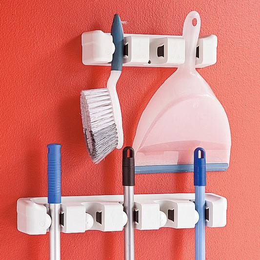 Broom and mop storage for $25