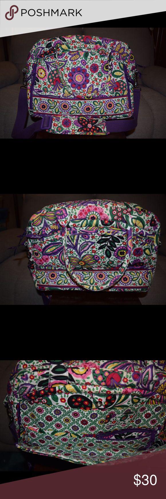 Vera Bradley laptop travel bag. Vera Bradley laptop bag. Pattern is Viva La Vera. Very nice condition Vera Bradley Bags Laptop Bags