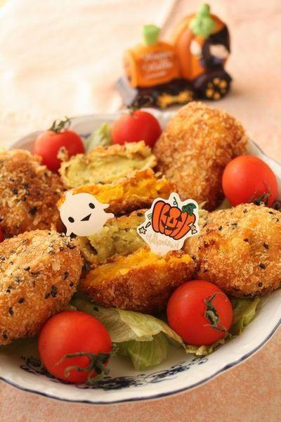 ハロウィンレシピ☆かぼちゃコロッケ