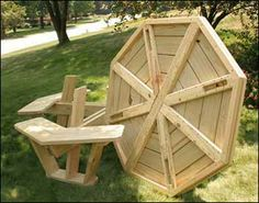 Treated Pine Octagon Walk-In Picnic Table