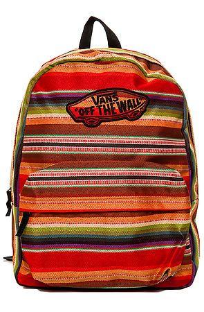 Vans Backpack Realm in Multi Stripe Red