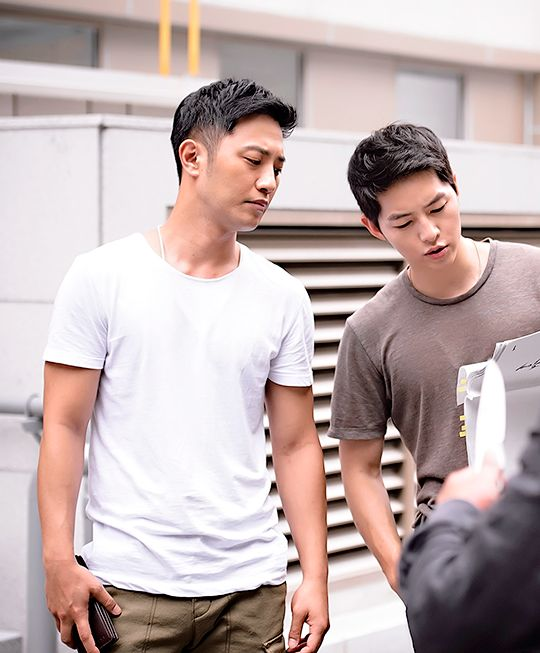 BTS Descendants of the Sun | I love Jin Goo in this!! The bond these two have :)
