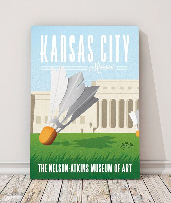 Matte Litho or Stretched Canvas of the Nelson Art Gallery in Kansas City. Also available framed.