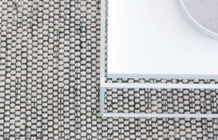 """Linie Design -merkkinen """"Asko Mixed"""" villamatto, jonka hankimme Länna Möbler -verkkokaupasta. Olohuoneen matto"""