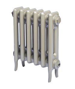 2 column traditional Victorian cast iron radiator; 5 piece