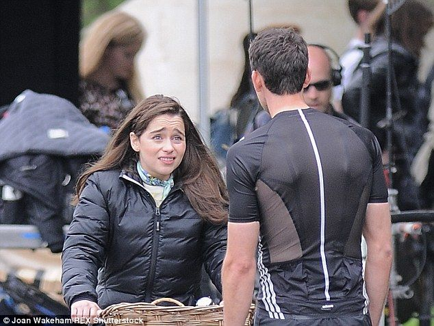 Emilia Clarke films Me Before You with Matthew Lewis ...