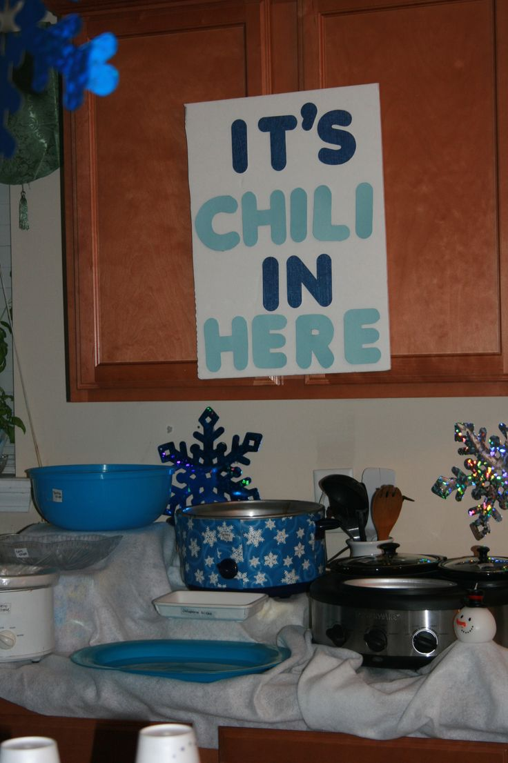 winter wonderland chili bar did this for my daughter 9th birthday and it was a big sucess