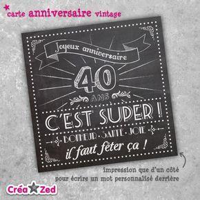 carte invitation anniversaire 40 ans gratuite à imprimer humoristique - Invitations de Cartes