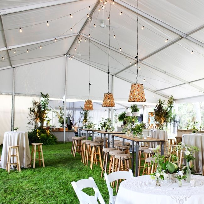 Casual Outdoor Wedding Reception Ideas: Photo By: Leah Lund Photography/ Megan Christine