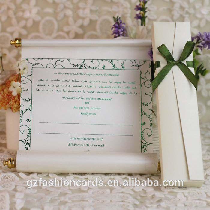 cinderellthemed wedding scroll invitations%0A Scroll bruiloft uitnodiging kaart   arabische bruiloft kaarten        luxe  koninklijke scroll bruiloft kaart
