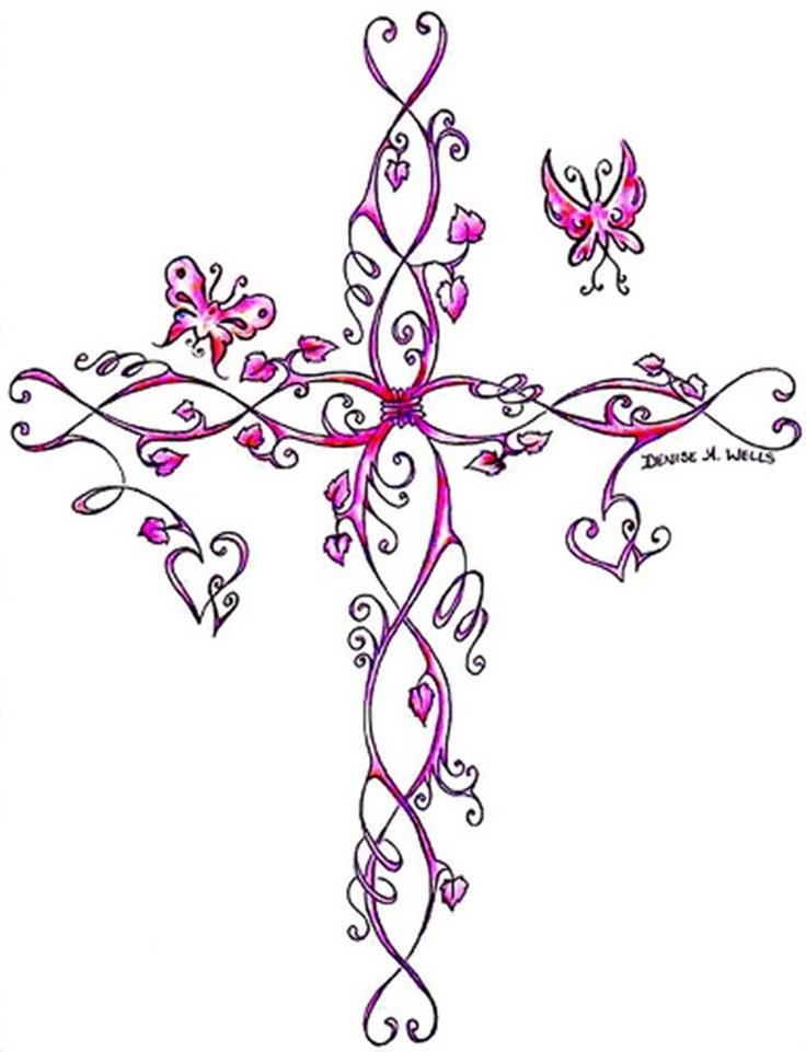 Bing feminine cross tattoos art pinterest cross for Small feminine cross tattoos