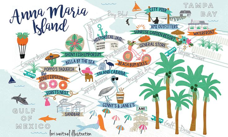 Lori Weitzel Anna Maria Island travel map florida