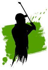 Golf Abstract vector art illustration