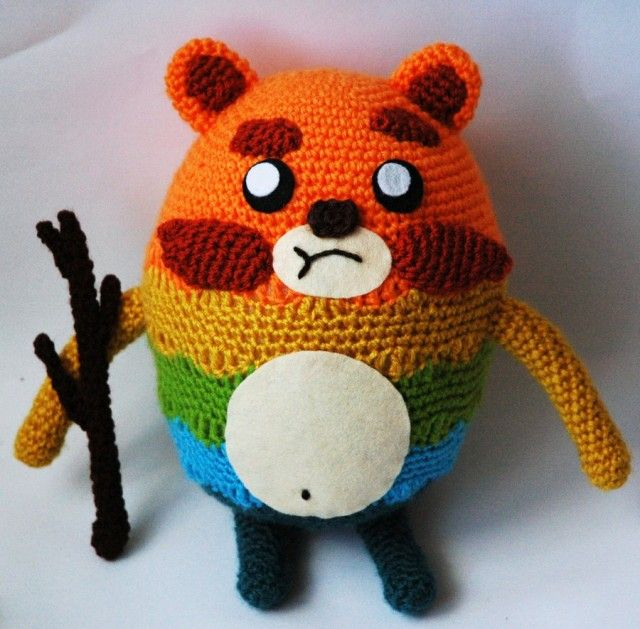 Impossibear and his gas-powered stick http://wp.me/pjlln-2iL #crochet #amigurumi #knithacker #impossibear -- made by kaelby, spotted on deviantART.com