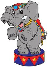 Circus Bulletin Board Ideas | Circus Elephant | Product Detail | Scholastic Printables