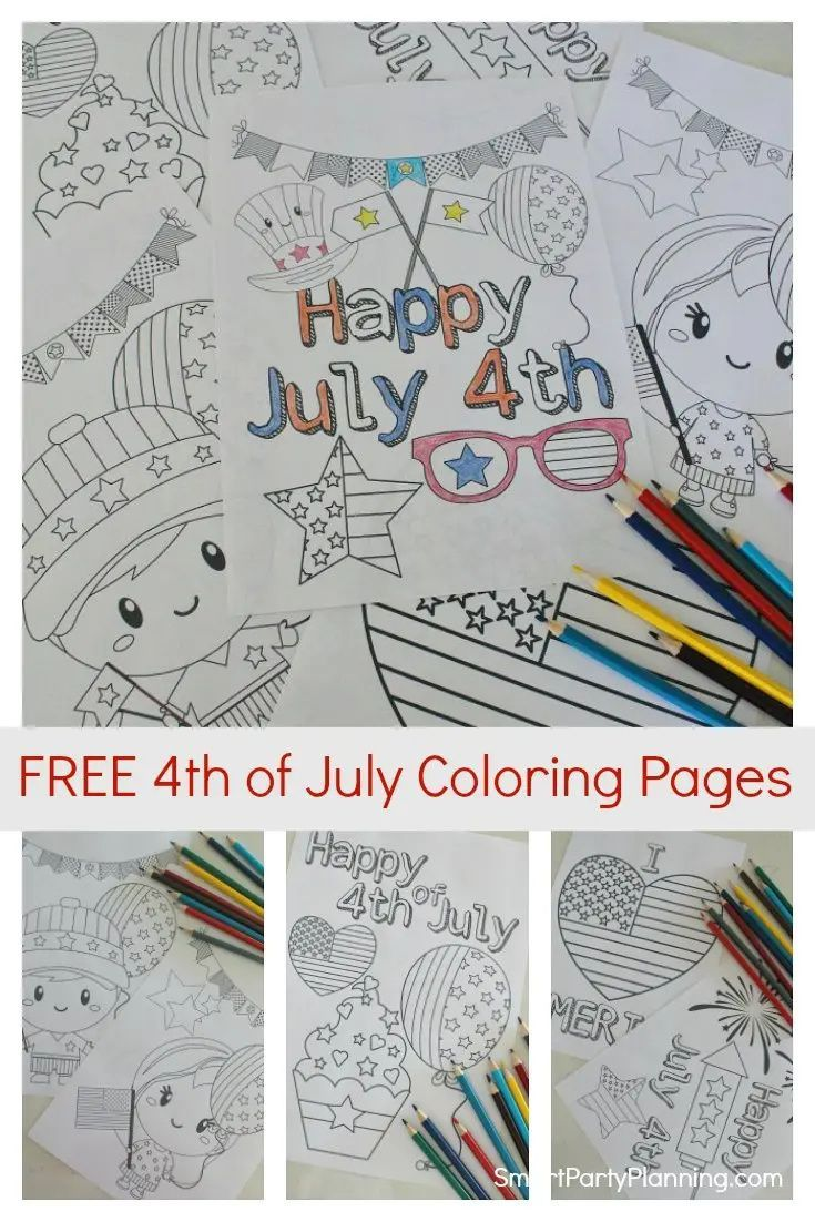 Free Printable 4th Of July Coloring Pages In 2020 Kids Printable Coloring Pages Coloring Pages Summer Fun For Kids [ 1102 x 735 Pixel ]