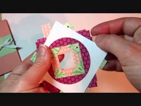 Faux Iris Twist Technique with Stampin' Up! Designer Paper - YouTube