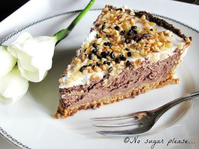No sugar please...: Cheesecake al cioccolato