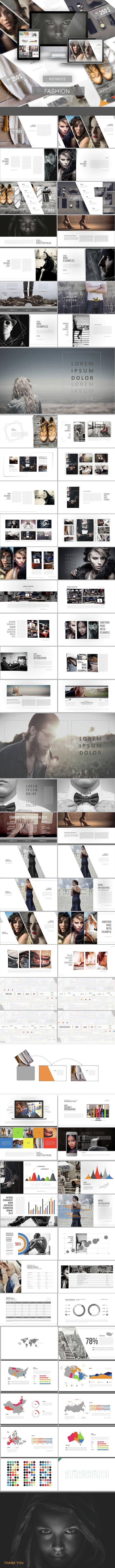 Fashion - Keynote Presentation Template. Download here: http://graphicriver.net/item/fashion/15077359?ref=ksioks