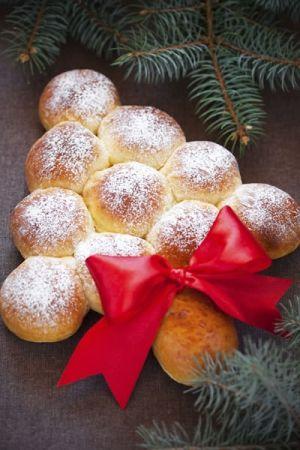 Dolce di #Natale: Albero di panini dolci con le mele