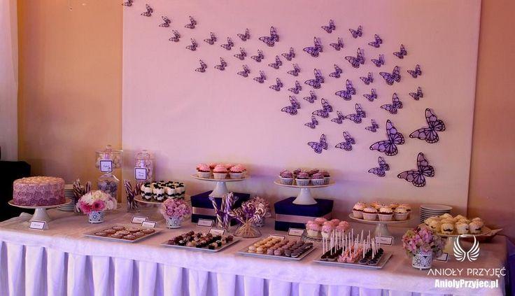 7. Butterfly Wedding,Sweet table decor,Butterfly decor / Motylkowe wesele,Dekoracje słodkiego stołu,Motylkowe dekoracje,Anioły Przyjęć