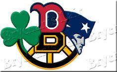 Boston Sports Red Sox Bruins Patriots Celtics Grosgrain Ribbon - product image
