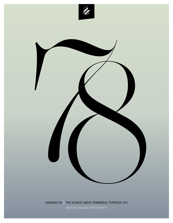 78. Made with the new Lingerie Xo - The Sexiest, Most Powerful Typeface Yet. By Moshik Nadav Typography. Available on: www.moshik.net #lingeriexo #xo #typography #type #newfont #newtypeface #fonts #font #typeface #fashion #fashiontypography #fashionmagazine #logo #logotype #moshik #moshiknadav #ligatures #ligature #typografie #swashes #graphicdesign #branding #packaging #7 #8 #78