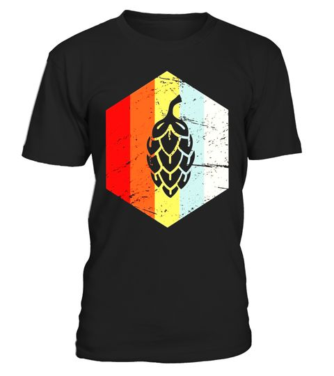 Mens Retro Vintage Hops Homebrew Beer T-Shirt . Special Offer, not available
