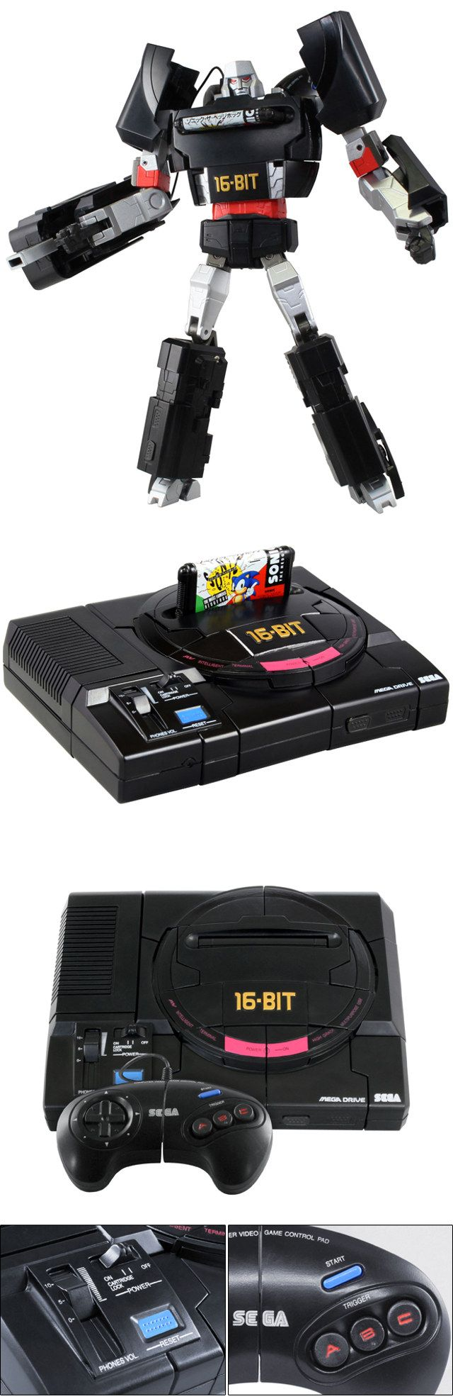 Sony Playstation And Sega Megadrive Console Transformers | Geekologie