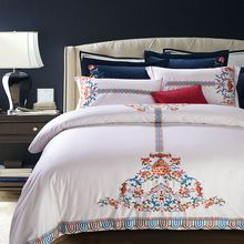 Upcoming arriving New Luxury 100% cotton bedding set blue white red duvet cover sets Bohemia style Embroidery bed linen bedclothes now for sale US $164.00 with free delivery  you could find the following item and even much more at our site      Purchase it now in the following >> http://bohogipsy.store/products/new-luxury-100-cotton-bedding-set-blue-white-red-duvet-cover-sets-bohemia-style-embroidery-bed-linen-bedclothes/,  #BohoStyle