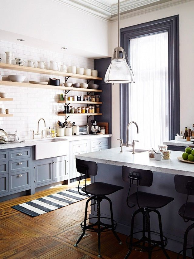 Get an intimate look at the stunning interiors from the new Nancy Meyers film. The intern - kitchen