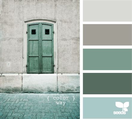 Bathroom, bedroom, laundry room (light gray, light charcoal, powder blue, dark seafoam, chalkboard)