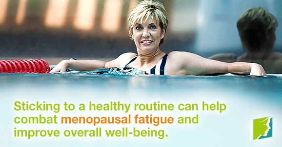 Sticking to a healthy routine can help combat menopausal fatigue and improve overall well-being.